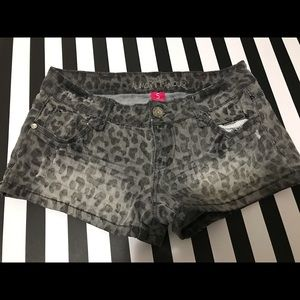 Almost Famous Leopard Shorts